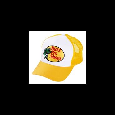 さあ釣りに出かけよう!ど定番!【Bassproshops  バスプロショップ 刺繍ロゴ メッシュキャップ Embroidered Logo Mesh Caps 】カラーYELLOW