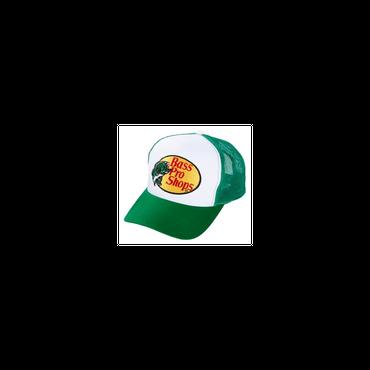 さあ釣りに出かけよう!ど定番!【Bassproshops  バスプロショップ 刺繍ロゴ メッシュキャップ Embroidered Logo Mesh Caps 】カラーGREEN