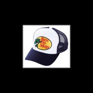 さあ釣りに出かけよう!ど定番!【Bassproshops  バスプロショップ 刺繍ロゴ メッシュキャップ Embroidered Logo Mesh Caps 】カラーNAVY