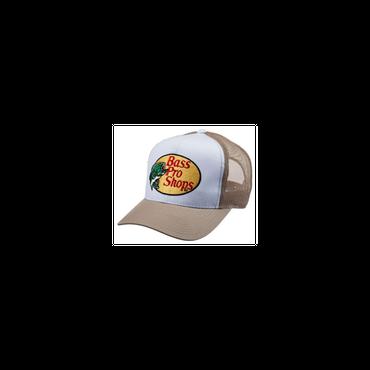 さあ釣りに出かけよう!ど定番!【Bassproshops  バスプロショップ 刺繍ロゴ メッシュキャップ Embroidered Logo Mesh Caps 】カラーTAN