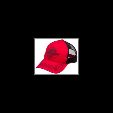 さあ釣りに出かけよう!ど定番!【Bassproshops  バスプロショップ エスタブリッシュド・ メッシュキャップ  Established Mesh Back Cap】カラーRED/BLACK