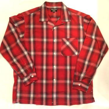 SUGAR CANE LIGHT シュガーケーン ライト Rayon ombray check Open Shirt レーヨンオンブレイチェックシャツ SC27829 レッド