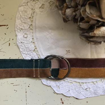 suede pattern color belt