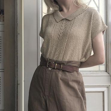 beige knit sew