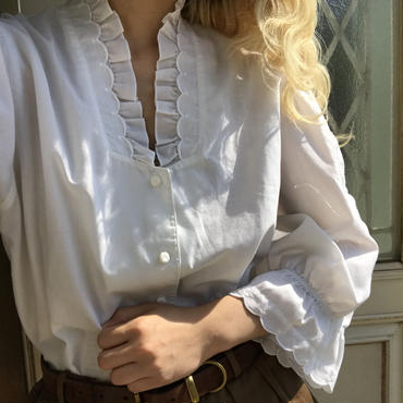 rose embroidered blouse