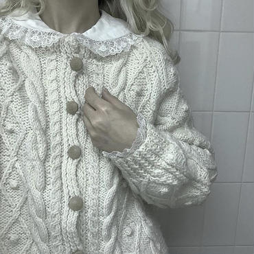 vintage alan knit cardigan