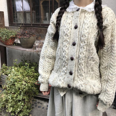fisherman knit cardigan