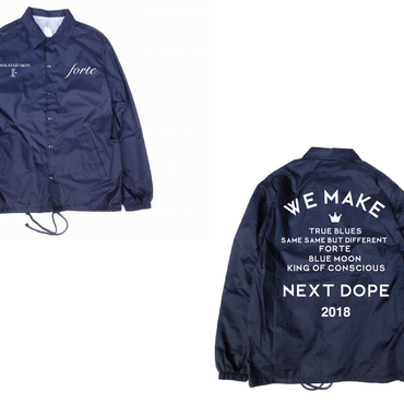 forte,iSOLATED ARTS W-NAME STAFF COACH JACKET(NAVY)-forteオンラインSHOP限定