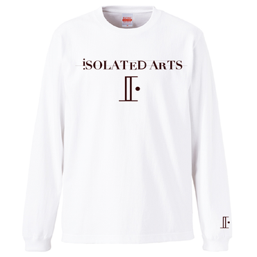 iSOLATED ARTS-Standard Long Sleeve Tshirts(White / Dark Chocolate)-Sale Price