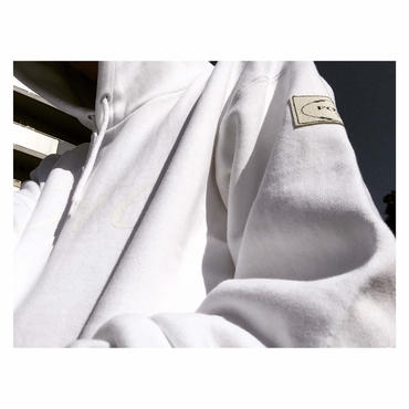 """18SS / forte original """"All White"""" Leather Patch Pull Over Parka"""