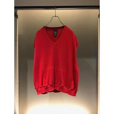 remake short length vest レッド 表記 XL