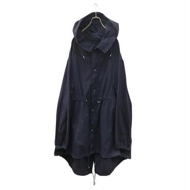 """SURPLUS by UFO"" oversized cotton hooded coat ネイビー USA製"
