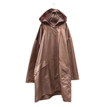"""""""LAPARKA"""" oversized hooded coat ブラウン 表記L"""