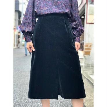 vintage velour skirt ブラック カナダ製