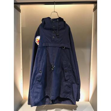 oversized cotton anorak  parka ネイビー 表記56