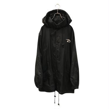 """DKNY"" nylon coach jacket ブラック 表記L"