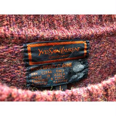 90s  wool knit sweater ブラウン 表記L