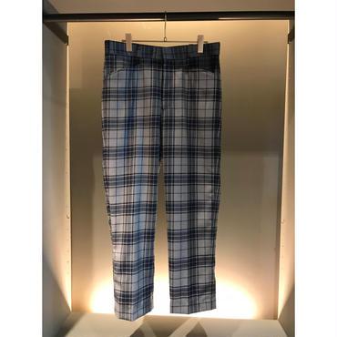 70s wool blend plaid slacks グレー/ブルー カナダ製