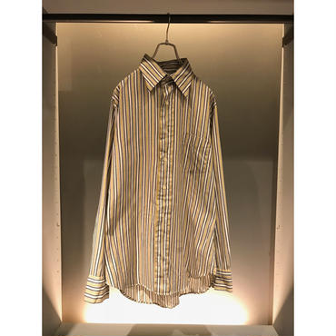 70s L/S cotton stripe shirt  USA製 表記16