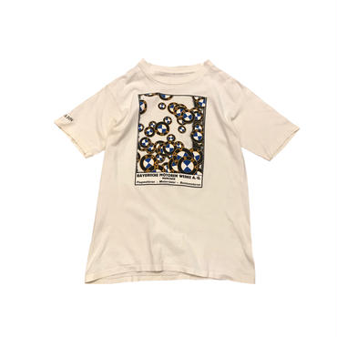 "90s ""BMW"" print t-shirt ホワイト シングルステッチ"