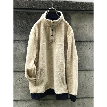 00s fleece pullover 生成り 表記L