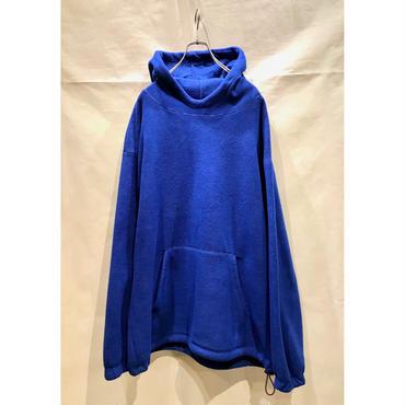 90s oversized fleece hoodie ブルー 表記L