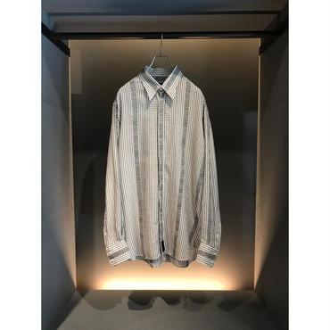 """VERSACE"" L/S  rayon blend shirt ホワイト 表記17"