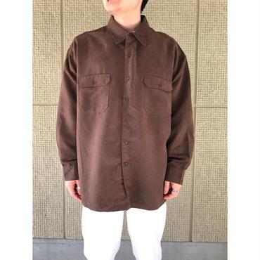 90年代 オーバーサイズフェイクスウェードシャツ