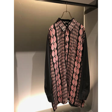 80s L/S rayon shirt カナダ製 表記XL