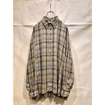 """C.P COMPANY"" L/S cotton plaid BD shirt 表記4"