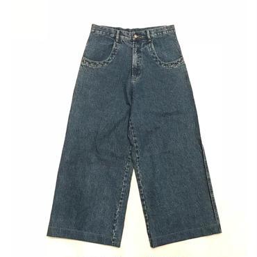 """unknown"" wide denim pants w32 インディゴ"