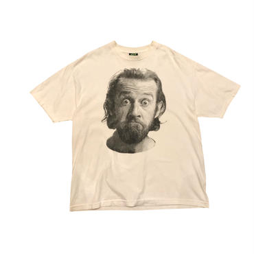 """George Carlin"" print t-shirt ホワイト 表記XL"