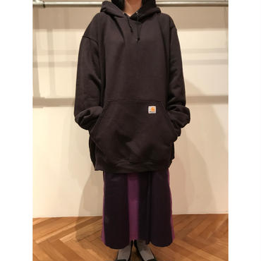 """Carhartt"" oversized sweat hoodie ブラック 表記2XL"