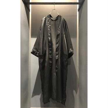 "90s ""C,D"" poly gown coat ブラック 表記 onesize"