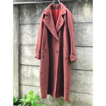 80s alpaca blend maxi coat チョコレートブラウン 表記14 カナダ製
