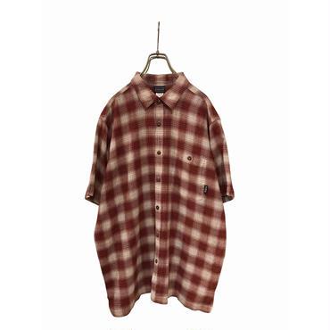 """Patagonia"" S/S organic cotton shirt エンジ 表記XL"