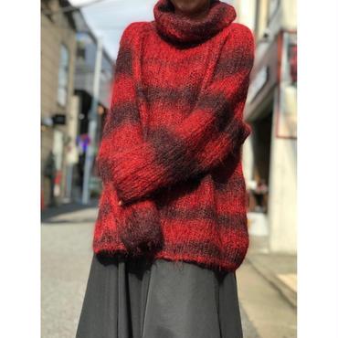 """JONES NEW YORK"" mohair turtle neck sweater レッド 表記L"