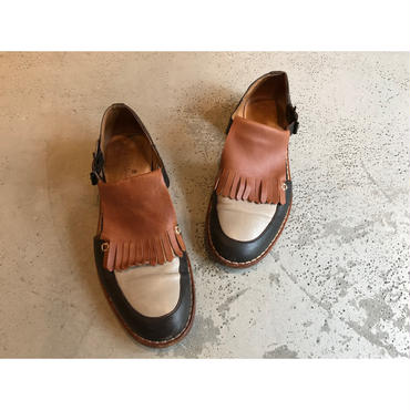 "00s ""FILIPE SOUSA"" leather design shoes ポルトガル製 表記41(26cm)"