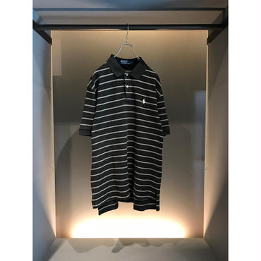 """Polo Ralph Lauren"" polo shirt ブラックボーダー 表記L"