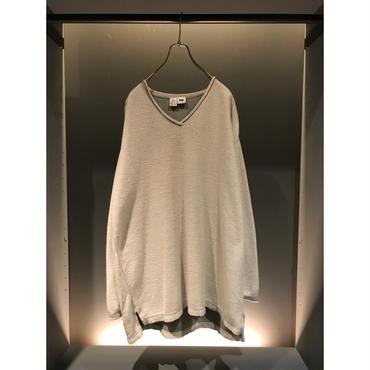 "90s ""DKNY"" oversized cotton cut sew グレー 表記S"