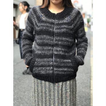 """Isabel Marant Étoile"" mohair blend zip up jacket ブラック イタリア製 表記0"