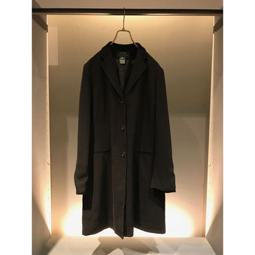 """LAUREN"" long tailored jacket ブラック USA製 表記14"