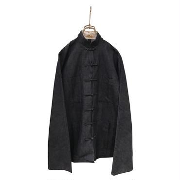 """unknown"" oversized kung fu shirt jacket インディゴ"
