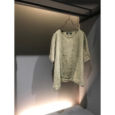 """ORVIS"" linen cut sew カーキ USA製 表記L"