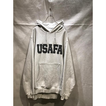"90s ""USAFA"" sweat hoodie 杢グレー USA製 表記XL"