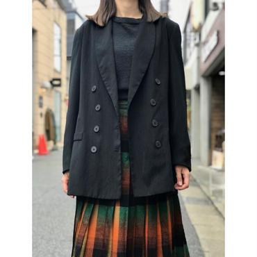 vintage shawl collar jacket ブラック USA製 表記 14