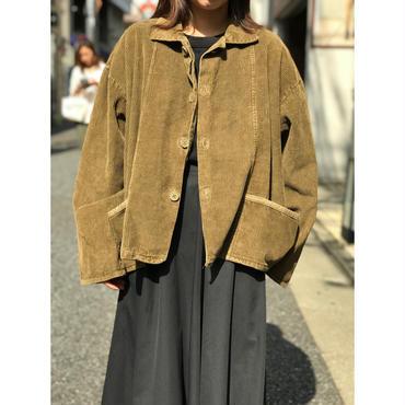 "90s ""FLAX"" corduroy jacket カーキ 表記S"