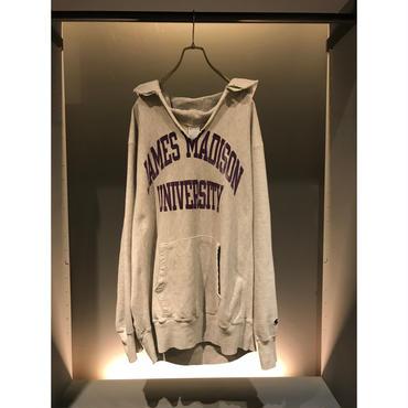 "90s ""champion"" reverse weave sweat hoodie 杢グレー USA製 表記XXL"