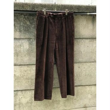 90s wide wale corduroy pants ブラウン USA製 表記34