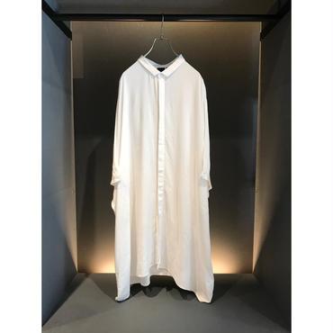 oversized s/s rayon shirt ホワイト 表記2XL